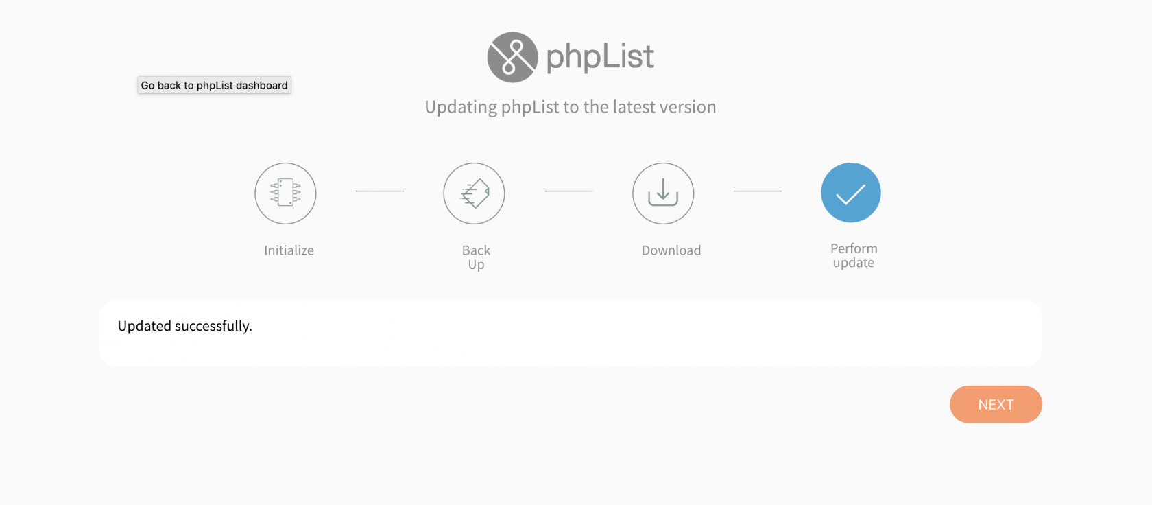 phpList_automatic_updater_updated_successfully.png