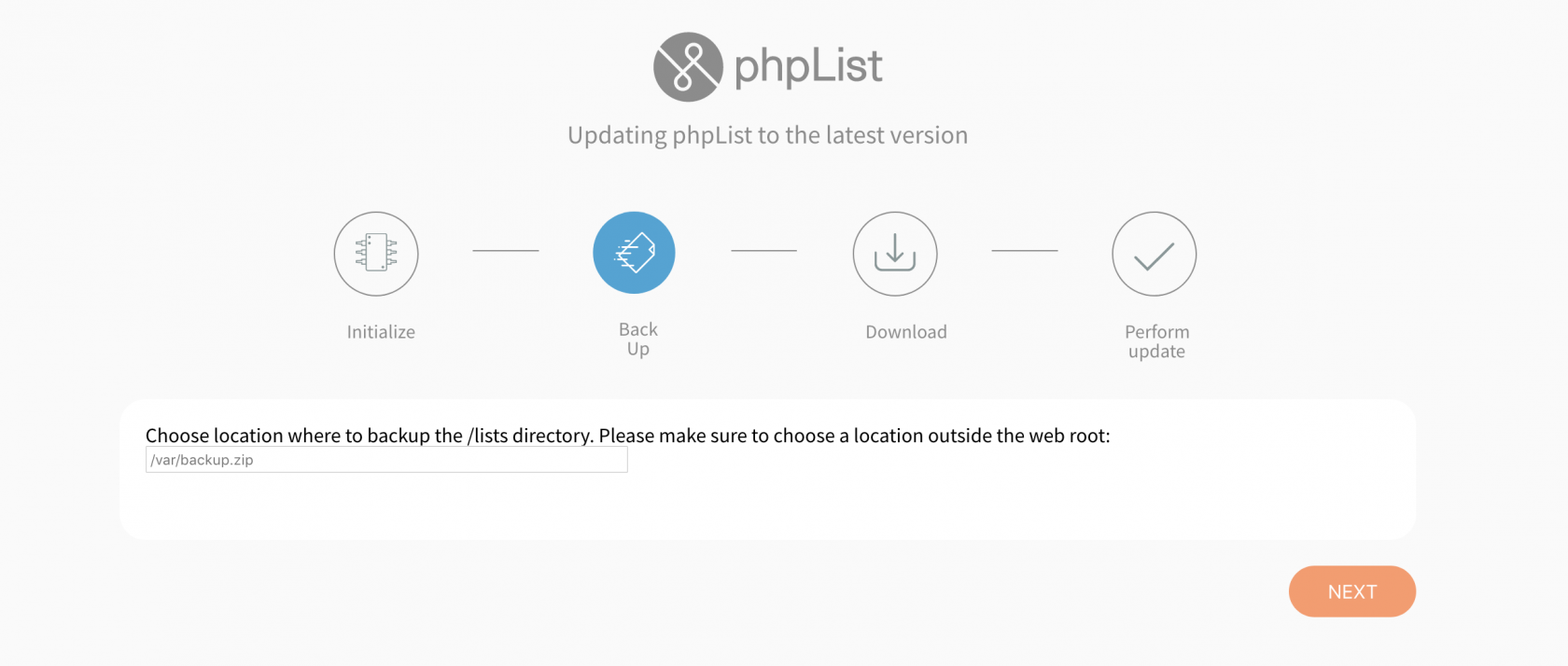 phpList_automatic_updater_yes_back_option.png