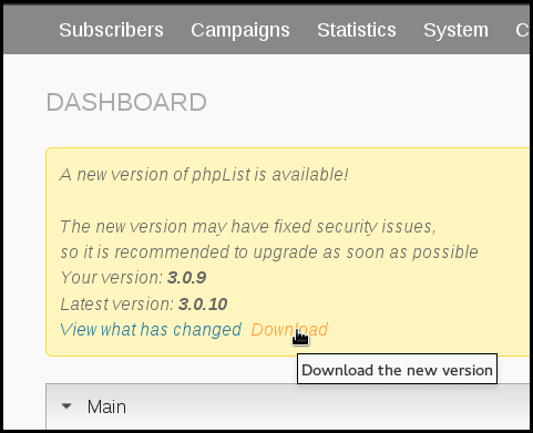 new_version_notice_phpList_dashboard.png