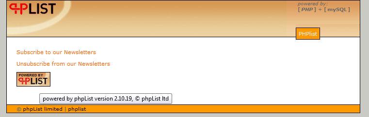 Public page for phpList version 2.10.x