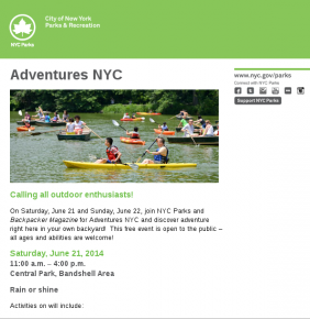 New York City parks and recreation department use open source software phpList for their newsletters.