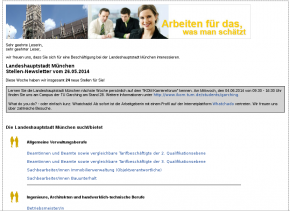 the city of munich newsletter is sent with open source software called phpList