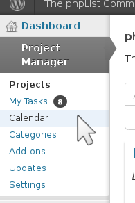 project managment menu