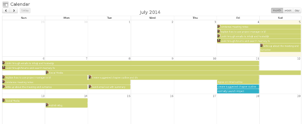 WordPres project management app calendar