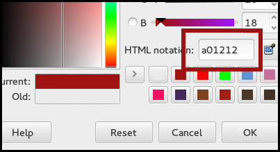 highlight an area of a screenshot in a colour in gimp