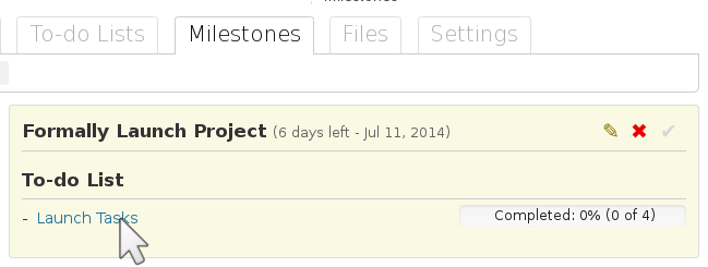 phpList manual first milestone in wordpress project manager