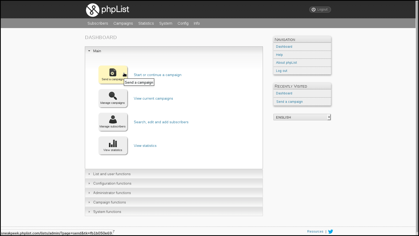 phpList_dashboard