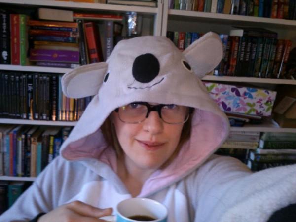 phpList community manager wears Koala onesie