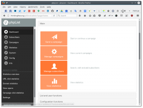 phpLIst 3.3.0 dashboard