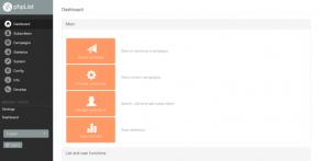 phpList 3.3.1 Dashboard
