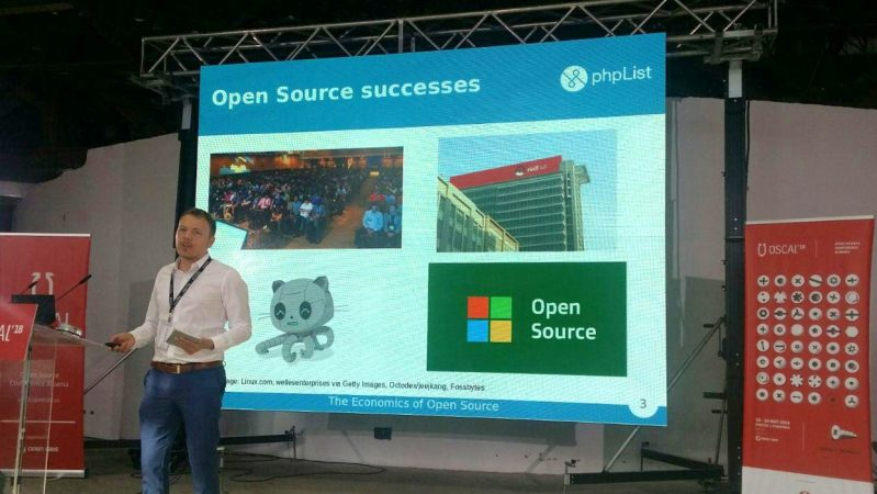 Sam Tuke discussing the economics of Open Source